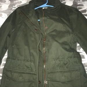 Olive green winter jacket